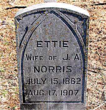 NORRIS, ETTIE - Carroll County, Arkansas   ETTIE NORRIS - Arkansas Gravestone Photos