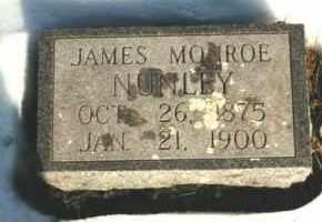 NUNLEY, JAMES MONROE - Carroll County, Arkansas | JAMES MONROE NUNLEY - Arkansas Gravestone Photos