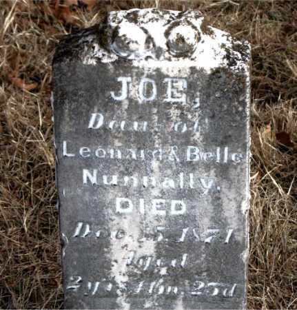 NUNNALLY, JOE - Carroll County, Arkansas   JOE NUNNALLY - Arkansas Gravestone Photos