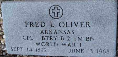 OLIVER (VETERAN WWI), FRED L - Carroll County, Arkansas | FRED L OLIVER (VETERAN WWI) - Arkansas Gravestone Photos