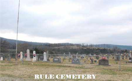 *RULE CEMETERY OVERVIEW,  - Carroll County, Arkansas |  *RULE CEMETERY OVERVIEW - Arkansas Gravestone Photos