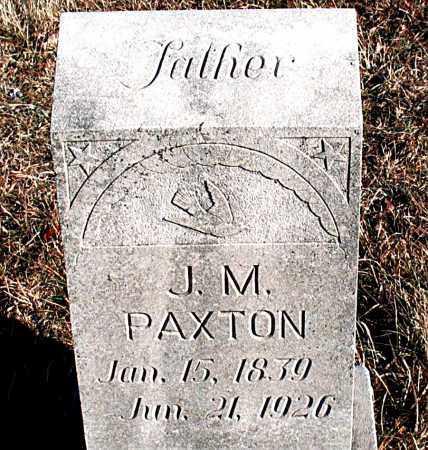 PAXTON, J. M. - Carroll County, Arkansas | J. M. PAXTON - Arkansas Gravestone Photos