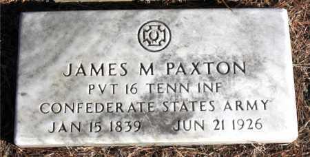 PAXTON  (VETERAN CSA), JAMES M. - Carroll County, Arkansas | JAMES M. PAXTON  (VETERAN CSA) - Arkansas Gravestone Photos