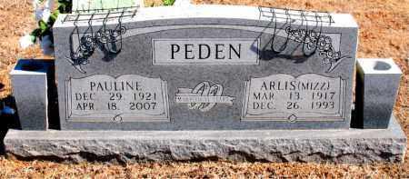 PEDEN, ARLIS   (MIZZ) - Carroll County, Arkansas | ARLIS   (MIZZ) PEDEN - Arkansas Gravestone Photos