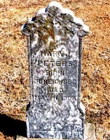 PETERS, MARY J. - Carroll County, Arkansas | MARY J. PETERS - Arkansas Gravestone Photos
