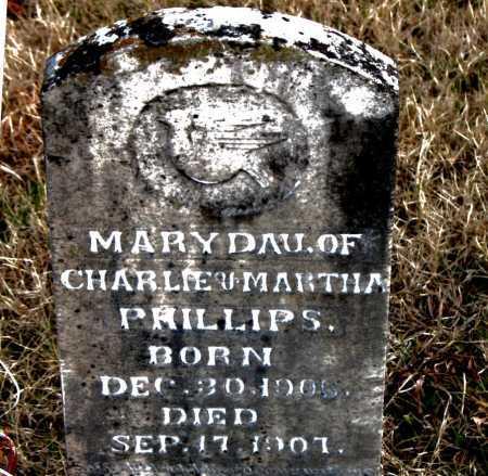 PHILLIPS, MARY - Carroll County, Arkansas   MARY PHILLIPS - Arkansas Gravestone Photos