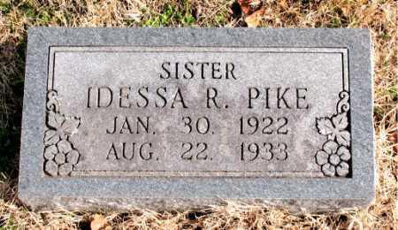 PIKE, IDESSA  R. - Carroll County, Arkansas | IDESSA  R. PIKE - Arkansas Gravestone Photos