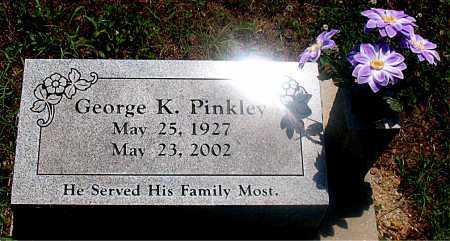 PINKLEY, GEORGE K - Carroll County, Arkansas   GEORGE K PINKLEY - Arkansas Gravestone Photos