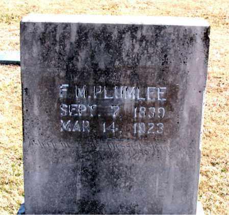 PLUMLEE, F. M. - Carroll County, Arkansas   F. M. PLUMLEE - Arkansas Gravestone Photos
