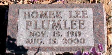 PLUMLEE, HOMER LEE - Carroll County, Arkansas | HOMER LEE PLUMLEE - Arkansas Gravestone Photos