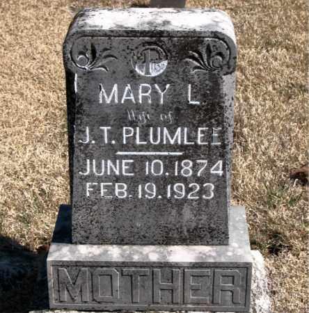 PLUMLEE, MARY L. - Carroll County, Arkansas   MARY L. PLUMLEE - Arkansas Gravestone Photos