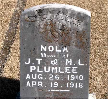 PLUMLEE, NOLA - Carroll County, Arkansas   NOLA PLUMLEE - Arkansas Gravestone Photos
