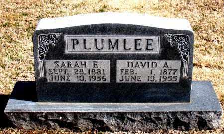 PLUMLEE, SARAH  E. - Carroll County, Arkansas | SARAH  E. PLUMLEE - Arkansas Gravestone Photos