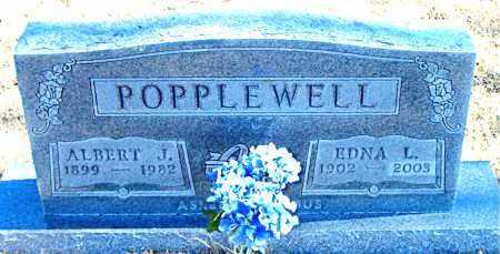 POPPLEWELL, ALBERT J. - Carroll County, Arkansas | ALBERT J. POPPLEWELL - Arkansas Gravestone Photos