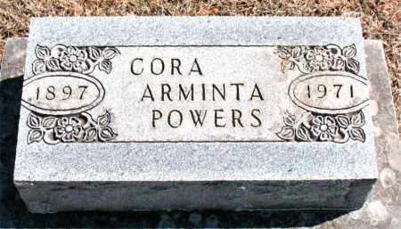 POWERS, CORA  ARMINTA - Carroll County, Arkansas | CORA  ARMINTA POWERS - Arkansas Gravestone Photos