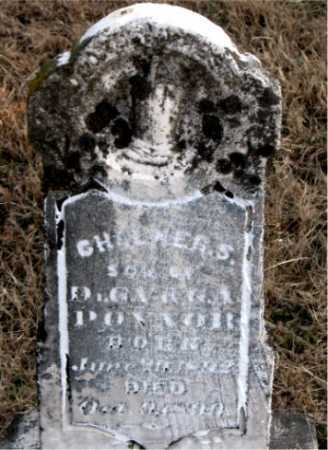 POYNER, CHALMERS - Carroll County, Arkansas | CHALMERS POYNER - Arkansas Gravestone Photos