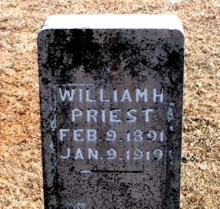 PRIEST, WILLIAM  H. - Carroll County, Arkansas   WILLIAM  H. PRIEST - Arkansas Gravestone Photos