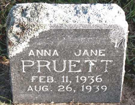 PRUETT, ANNA  JANE - Carroll County, Arkansas | ANNA  JANE PRUETT - Arkansas Gravestone Photos