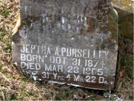 PURSELLEY, JEPTHA A. - Carroll County, Arkansas | JEPTHA A. PURSELLEY - Arkansas Gravestone Photos