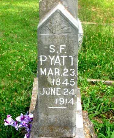 PYATT, S. F. - Carroll County, Arkansas | S. F. PYATT - Arkansas Gravestone Photos