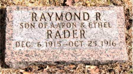 RADER, RAYMOND R. - Carroll County, Arkansas | RAYMOND R. RADER - Arkansas Gravestone Photos
