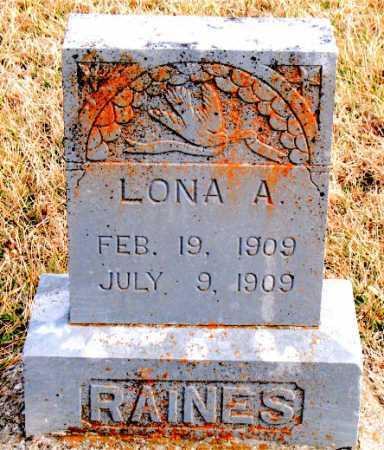 RAINES, LONA A. - Carroll County, Arkansas   LONA A. RAINES - Arkansas Gravestone Photos