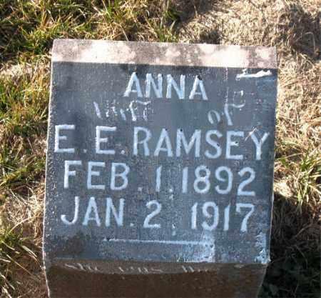 RAMSEY, ANNA - Carroll County, Arkansas | ANNA RAMSEY - Arkansas Gravestone Photos