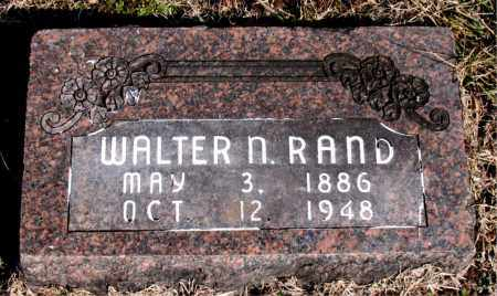 RAND, WALTER N - Carroll County, Arkansas   WALTER N RAND - Arkansas Gravestone Photos