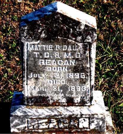 REAGAN, MATTIE  B. - Carroll County, Arkansas | MATTIE  B. REAGAN - Arkansas Gravestone Photos