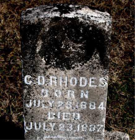 RHODES, C D - Carroll County, Arkansas | C D RHODES - Arkansas Gravestone Photos