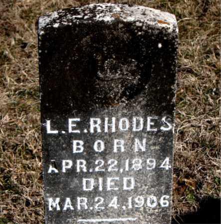 RHODES, L E - Carroll County, Arkansas | L E RHODES - Arkansas Gravestone Photos