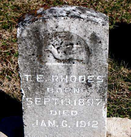 RHODES, T E - Carroll County, Arkansas | T E RHODES - Arkansas Gravestone Photos