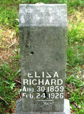 RICHARD, ELISA - Carroll County, Arkansas   ELISA RICHARD - Arkansas Gravestone Photos