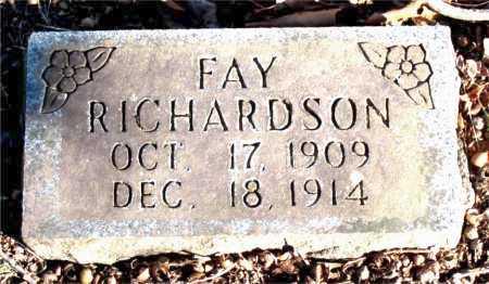 RICHARDSON, FAY - Carroll County, Arkansas | FAY RICHARDSON - Arkansas Gravestone Photos