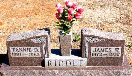 RIDDLE, JAMES W. - Carroll County, Arkansas | JAMES W. RIDDLE - Arkansas Gravestone Photos
