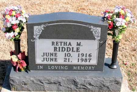 RIDDLE, RETHA M. - Carroll County, Arkansas   RETHA M. RIDDLE - Arkansas Gravestone Photos