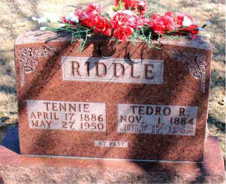 RIDDLE, TENNIE - Carroll County, Arkansas | TENNIE RIDDLE - Arkansas Gravestone Photos