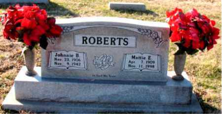 ROBERTS, MATTIE E. - Carroll County, Arkansas | MATTIE E. ROBERTS - Arkansas Gravestone Photos