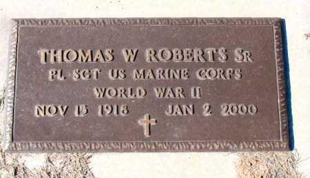 ROBERTS  (VETERAN WWII), THOMAS W. - Carroll County, Arkansas | THOMAS W. ROBERTS  (VETERAN WWII) - Arkansas Gravestone Photos