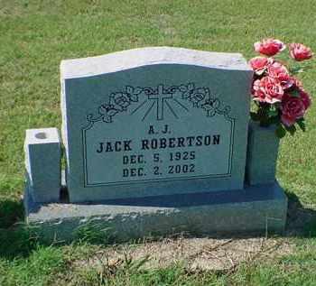 ROBERTSON, A J JACK - Carroll County, Arkansas   A J JACK ROBERTSON - Arkansas Gravestone Photos