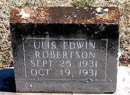 ROBERTSON, ULIS EDWIN - Carroll County, Arkansas | ULIS EDWIN ROBERTSON - Arkansas Gravestone Photos