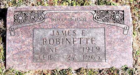 ROBINETTE, JAMES E - Carroll County, Arkansas | JAMES E ROBINETTE - Arkansas Gravestone Photos