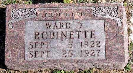 ROBINETTE, WARD D - Carroll County, Arkansas | WARD D ROBINETTE - Arkansas Gravestone Photos