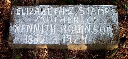 STAMPS ROBINSON, ELIZABETH  Z. - Carroll County, Arkansas | ELIZABETH  Z. STAMPS ROBINSON - Arkansas Gravestone Photos