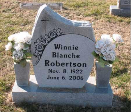 ROBERTSON, WINNIE  BLANCHE - Carroll County, Arkansas   WINNIE  BLANCHE ROBERTSON - Arkansas Gravestone Photos
