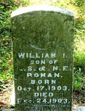ROMAN, WILLIAM I - Carroll County, Arkansas   WILLIAM I ROMAN - Arkansas Gravestone Photos
