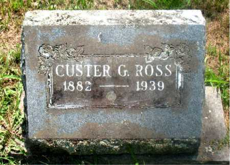 ROSS, CUSTER G - Carroll County, Arkansas | CUSTER G ROSS - Arkansas Gravestone Photos