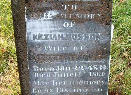 ROSSON, KEZIAH - Carroll County, Arkansas   KEZIAH ROSSON - Arkansas Gravestone Photos