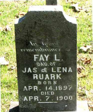 RUARK, FAY L - Carroll County, Arkansas   FAY L RUARK - Arkansas Gravestone Photos