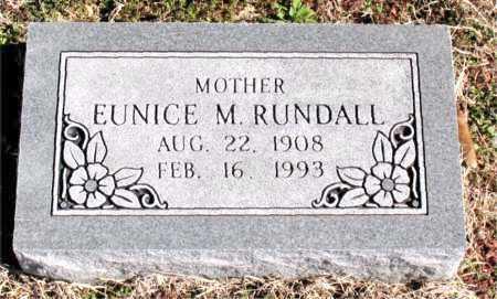 RUNDALL, EUNICE M - Carroll County, Arkansas   EUNICE M RUNDALL - Arkansas Gravestone Photos